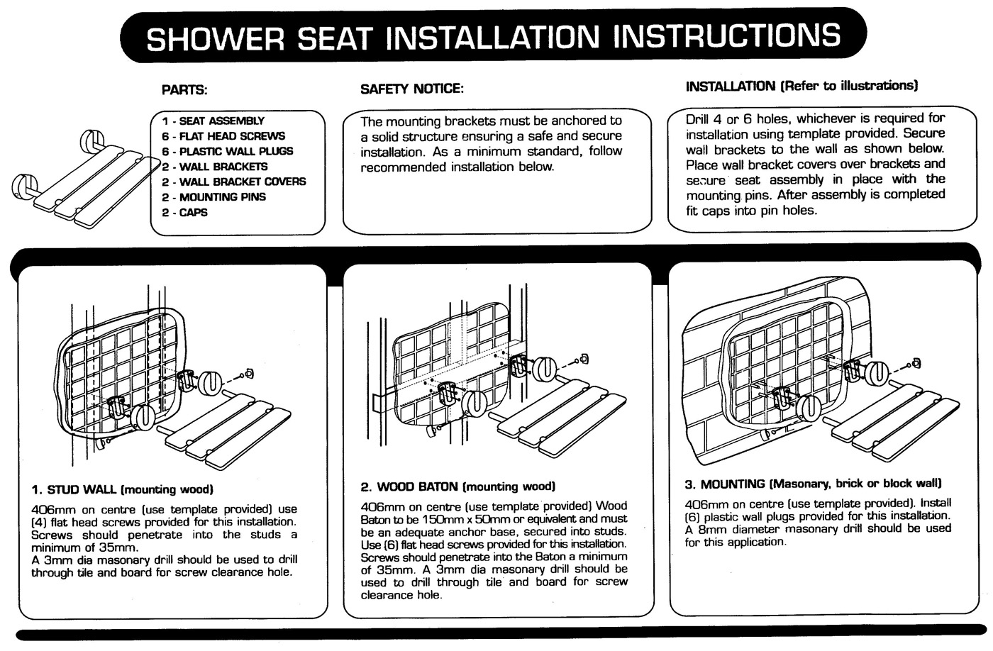 HOIS259613 Shower Seat Install Instructions | Knowledge Base