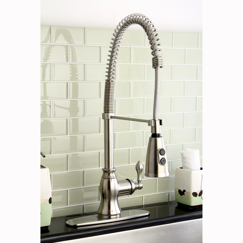 pull down p faucet kitchen starlight eurocube sprayer in coiled grohe chrome single faucets handle