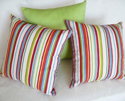 Striped Sofa Pillows