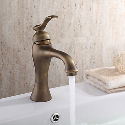 Buy Brass Bathroom Faucets Polished Brass Bathroom Sink Faucets - Aged brass bathroom faucet