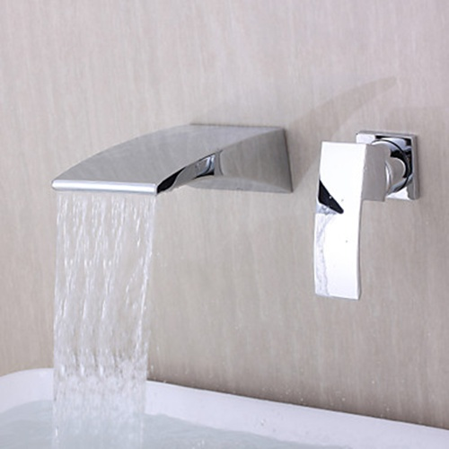 waterfall wall mounted bathtub faucets
