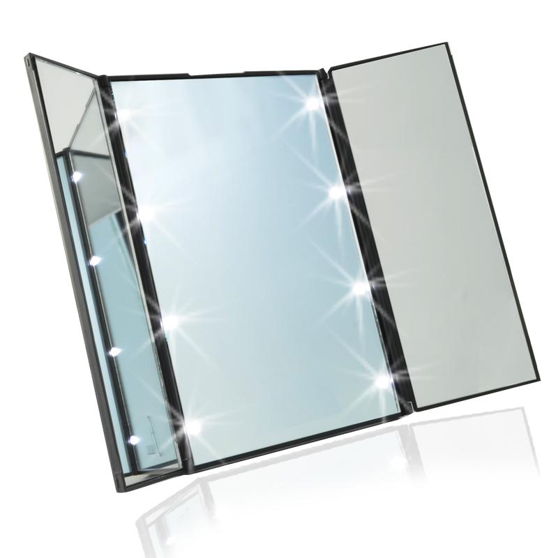 Portable Vanity Mirror With Lights Adorable Best Lighted Makeup Mirror Wall Makeup Mirror With Lights HomeRises