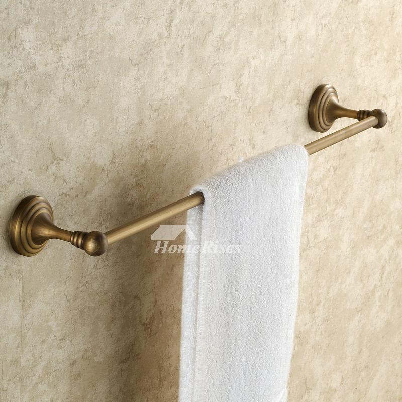 Antique Brass Golden Vintage Towel Bars Bathroom