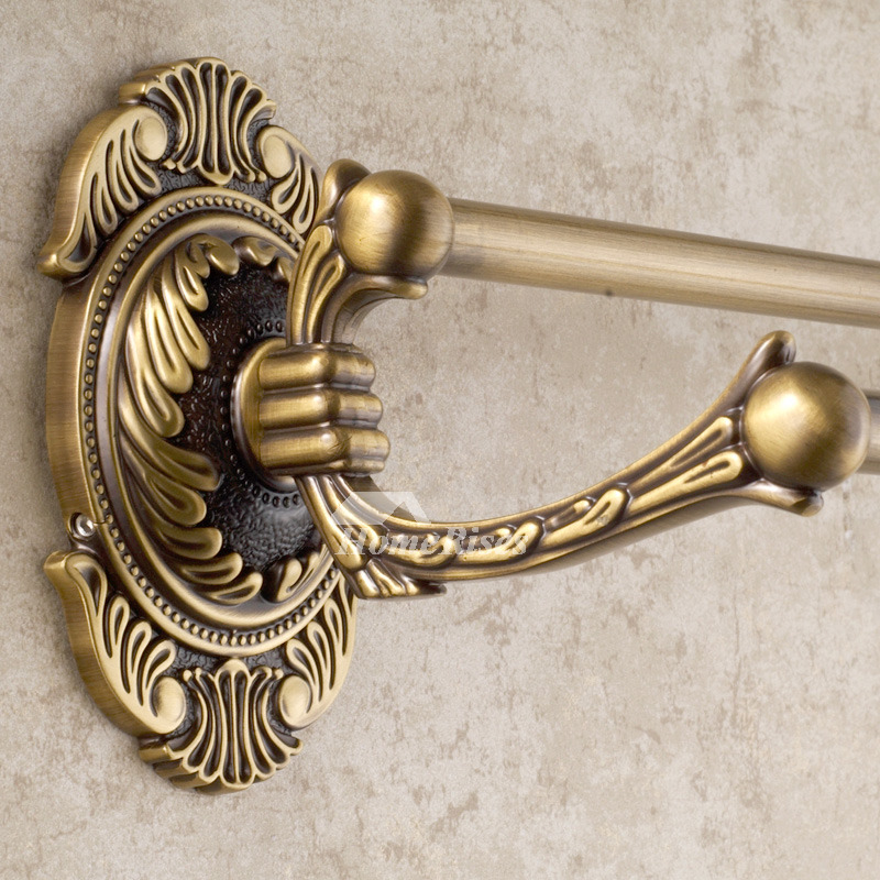 Vintage Golden Antique Brass Towel Bars