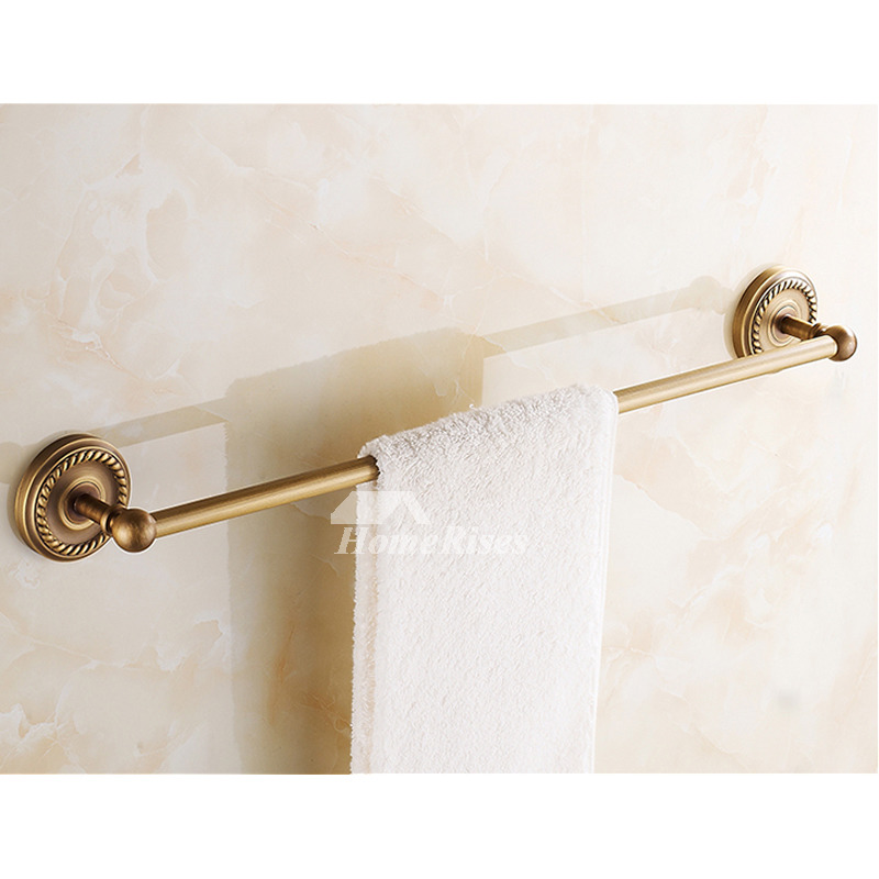 Golden Antique Brass Towel Bars Wall Mount Bathroom