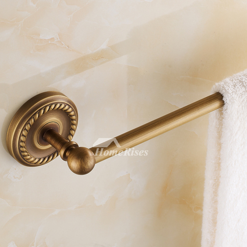 Golden Antique Brass Towel Bars Wall Mount Bathroom