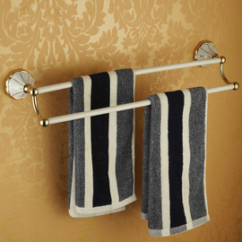 White Polished Brass vintage Towel Bars