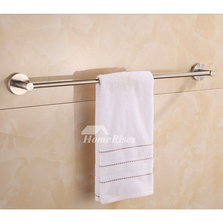 Nickel Brushed Beige contemporary Towel Bars