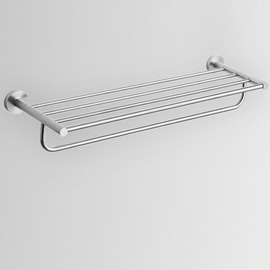 Contemporary Beige Nickel Brushed Towel Bars