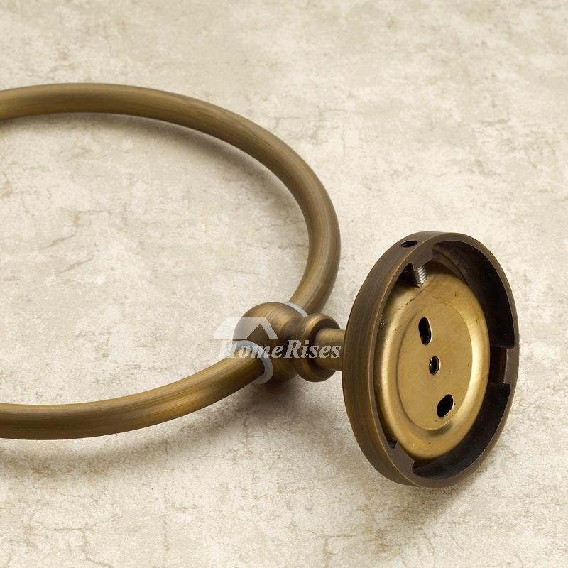 Golden Antique Brass Vintage Towel Ring Bathroom