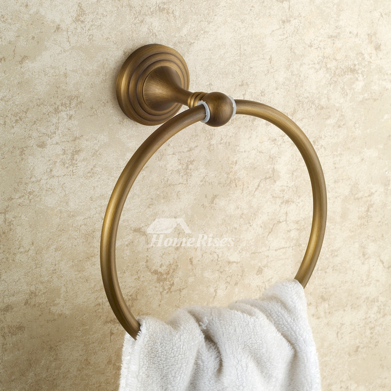 Golden Antique Brass Vintage Towel Ring