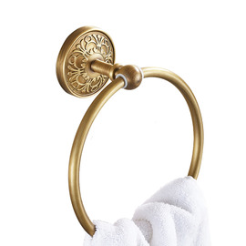 Antique Antique Brass Golden Towel Ring