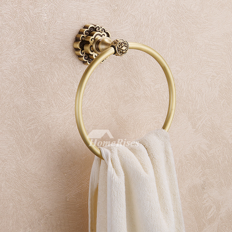 Gold Circle Shaped Antique Bronze Towel Ring