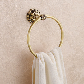 Vintage Brown Antique Bronze Towel Ring