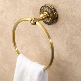 Antique Bronze Golden Vintage Towel Ring