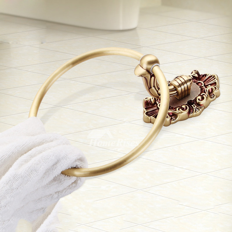 Luxury Rose Gold Golden Towel Ring