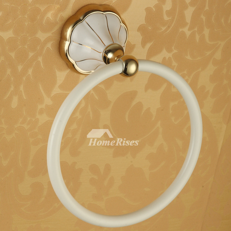 Painting Modern Wall Mount White Towel Ring