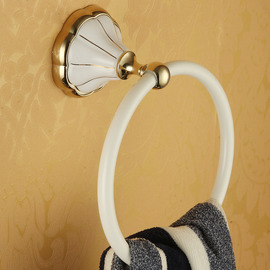 Painting antique White Towel Ring