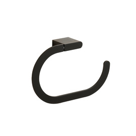 Painting contemporary Black Towel Ring