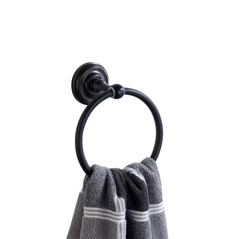 Oil-rubbed Bronze Antique Black Towel Ring Wall Mount