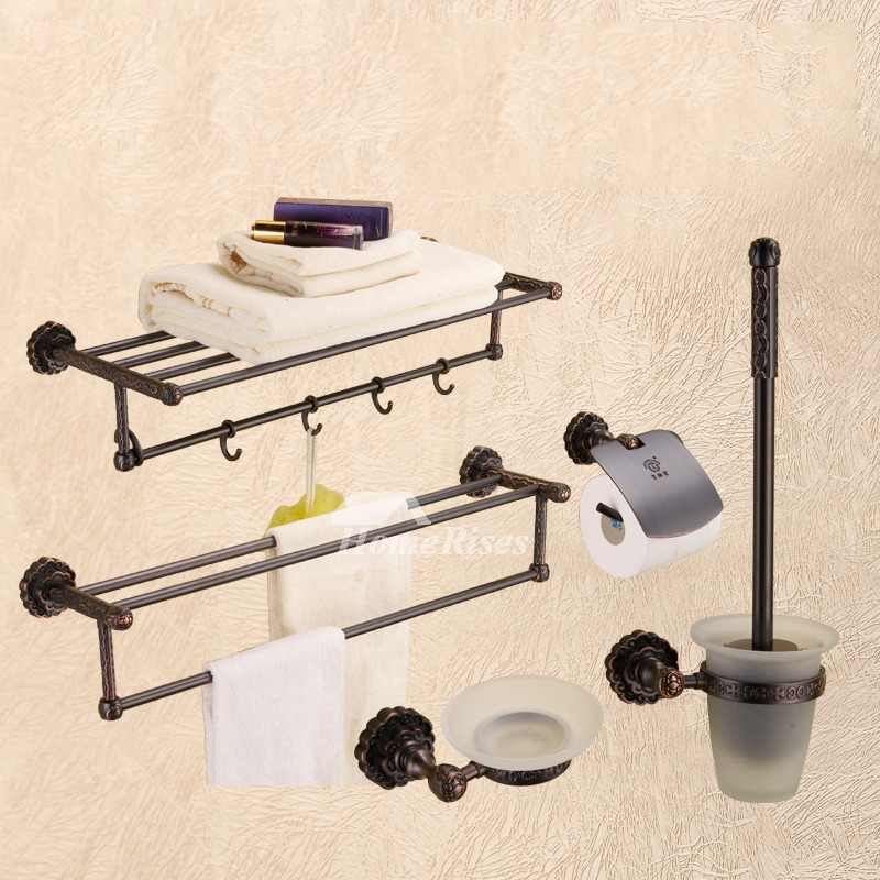 antique oil-rubbed bronze bathroom accessories sets