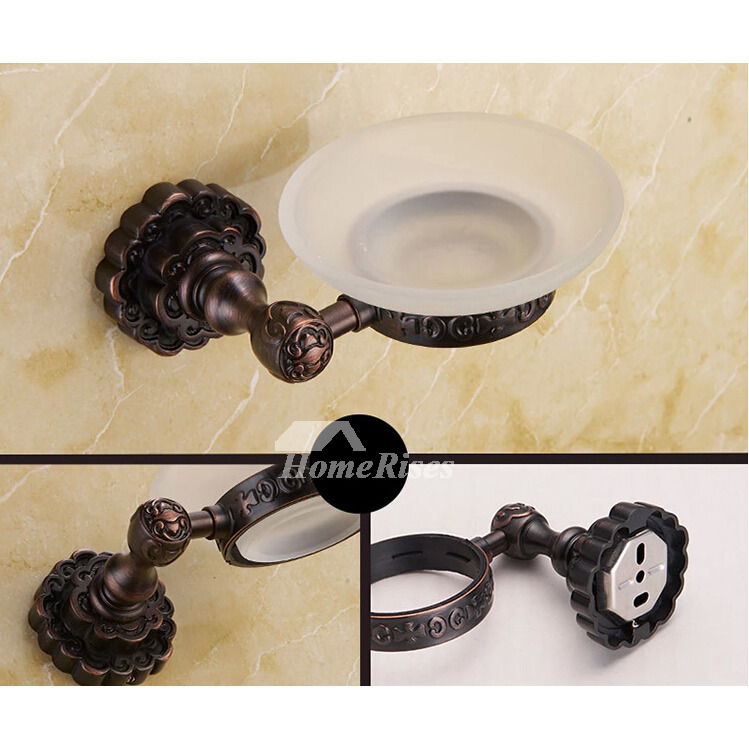 Black Antique Oil Rubbed Bronze Bathroom Accessories Sets