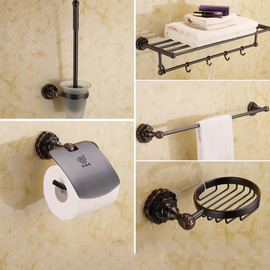 Oil-rubbed Bronze Vintage Black Bathroom Accessories Sets