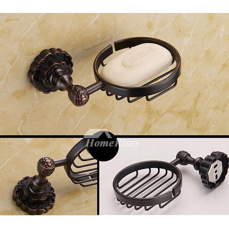 Black vintage Oil-rubbed Bronze Bathroom Accessories Sets