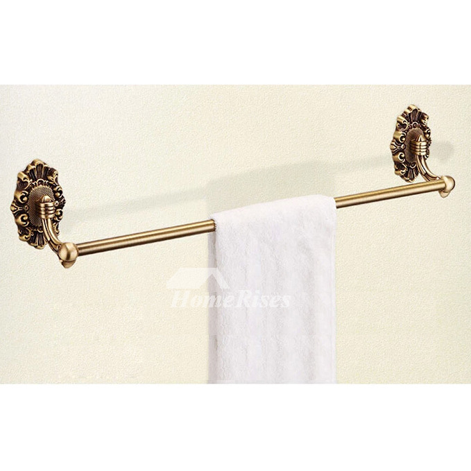 Golden Vintage Antique Brass Bathroom Accessories Sets