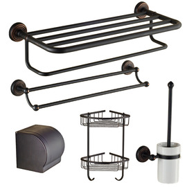 Antique Black Oil-rubbed Bronze Bathroom Accessories Sets
