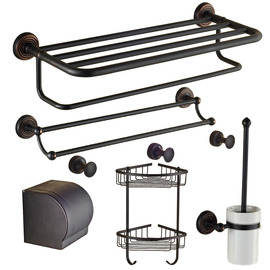Oil-rubbed Bronze Black Vintage Bathroom Accessories Sets