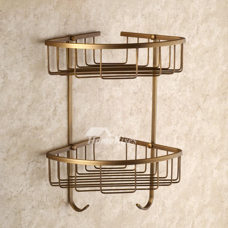 Golden Antique Brass Vintage Bathroom Accessories Sets