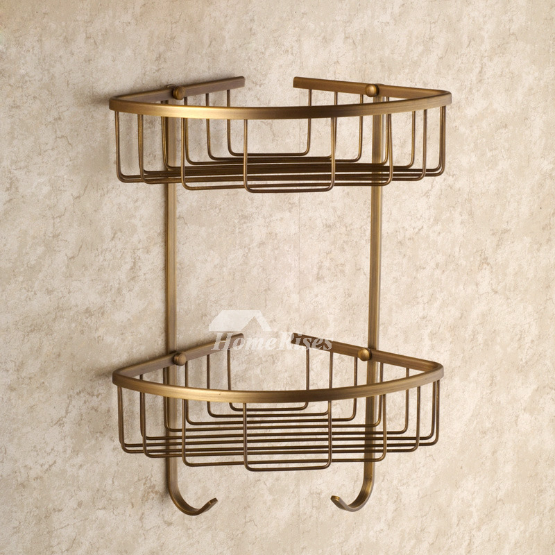 Antique brass golden vintage bathroom accessories sets for Vintage bathroom accessories