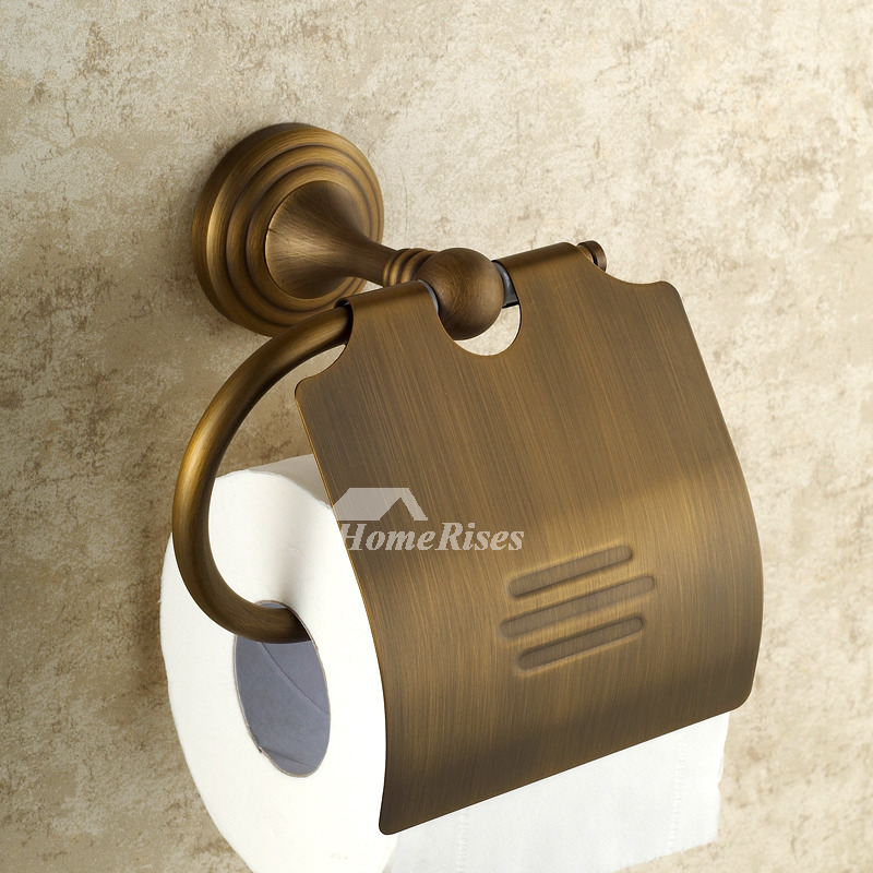Antique Brass Golden Vintage Bathroom Accessories Sets