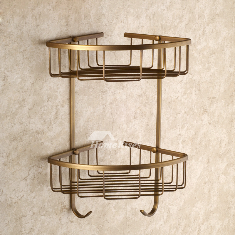 Bathroom Accessories Vintage golden antique brass bathroom accessories sets