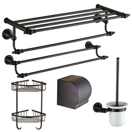 Oil-rubbed Bronze Black Antique Bathroom Accessories Sets