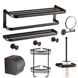 Black Oil-rubbed Bronze Antique Bathroom Accessories Sets