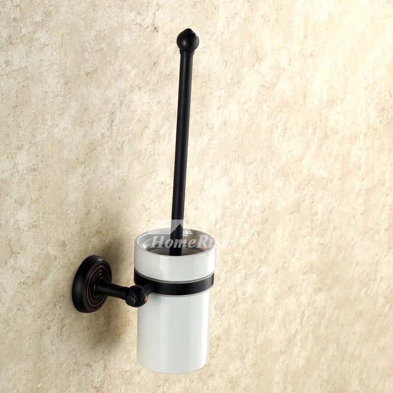 Black antique Oil-rubbed Bronze Toilet Brush Holder