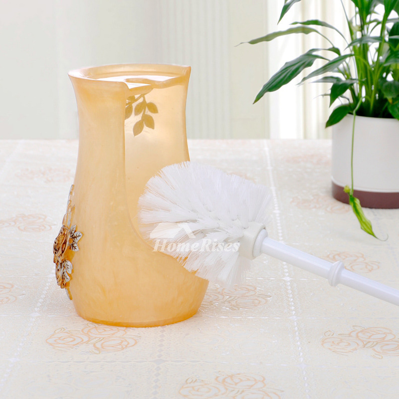 Yellow Painting On Sale Toilet Brush Holder