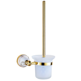 Golden Polished Brass Vintage Toilet Brush Holder