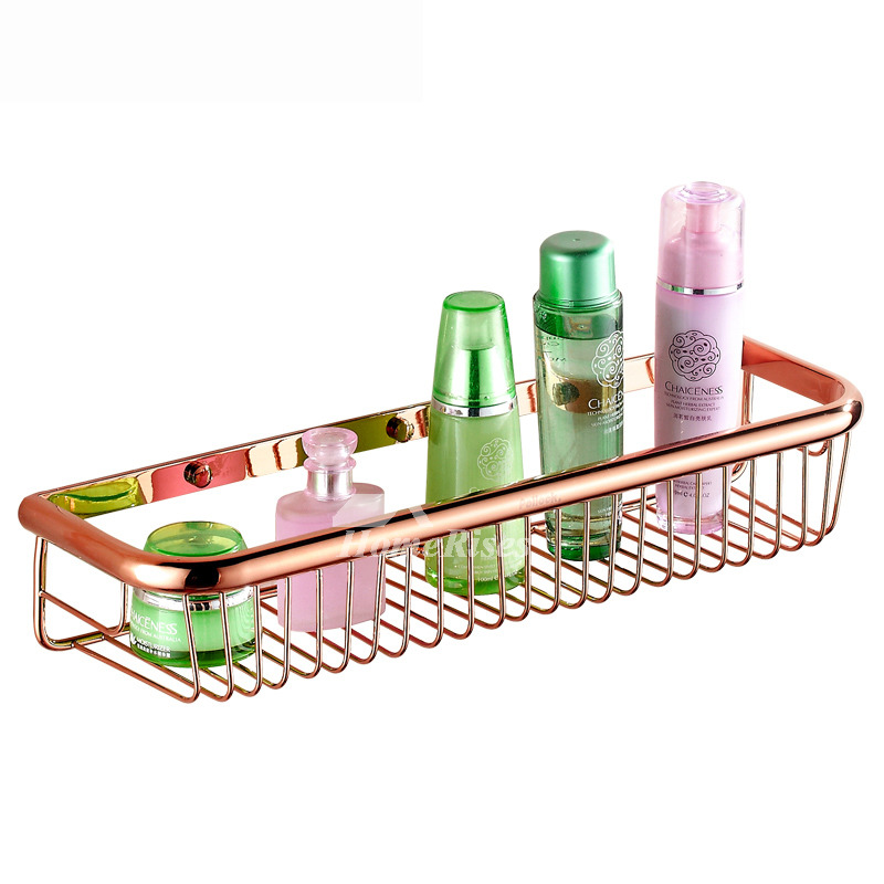 Rose Gold Golden Vintage Bathroom Shelves