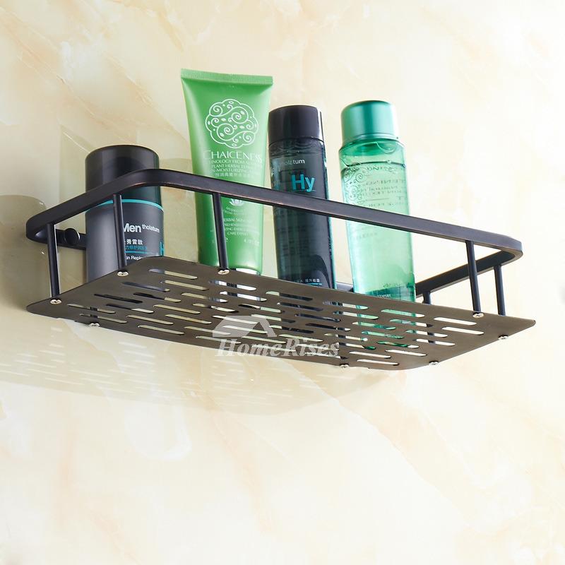 Vintage Oil Rubbed Bronze Black Bathroom Shelves