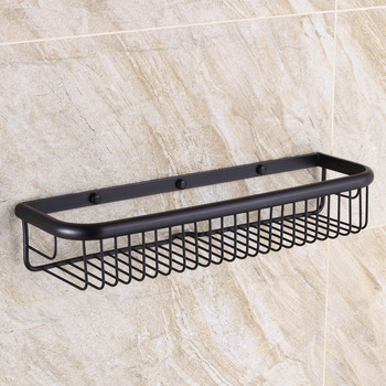 Oil Rubbed Bronze Black Vintage Bathroom Shelves