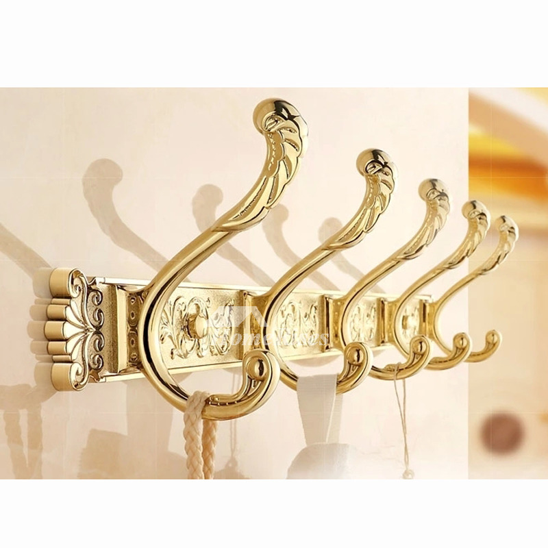 Golden Vintage Rose Gold Robe Hooks