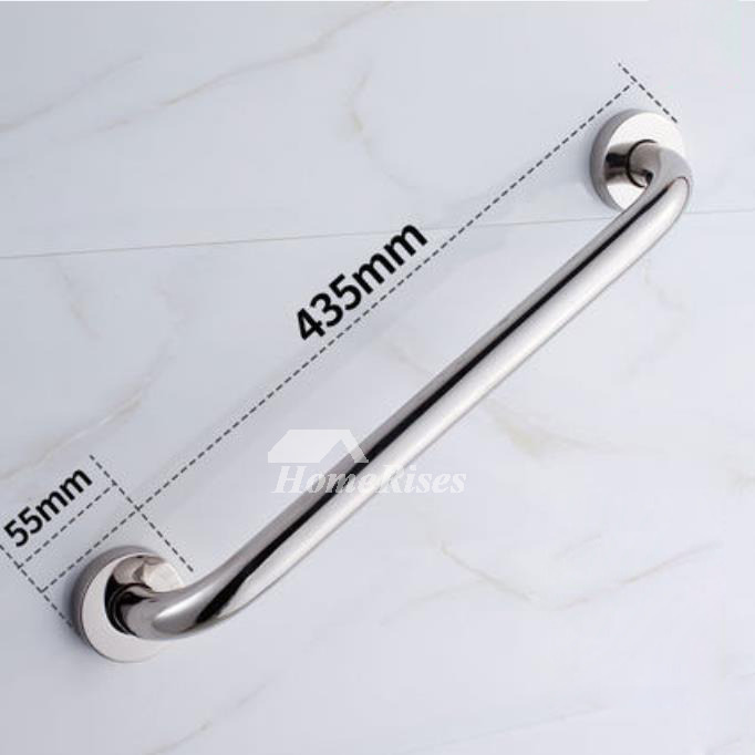 Silver Chrome contemporary Grab Bar For Bathroom