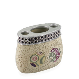 Painting Designer Beige Toothbrush Holder
