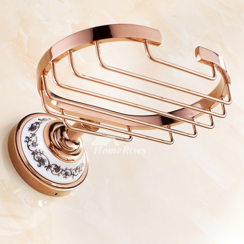 ASTM High End Rose Gold Brass Wall Mounted Soap Dish