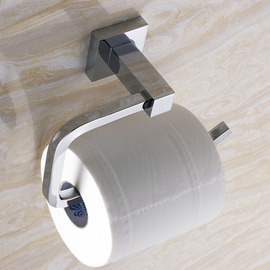 modern Chrome Silver Toilet Paper Holder