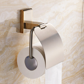 Golden Chrome High End Toilet Paper Holder