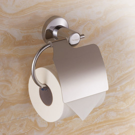 Silver Chrome Contemporary Toilet Paper Holder